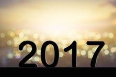 2017 tekst na plamy tle Fotografia Stock