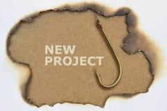 Tekst Nieuw Project Stock Fotografie