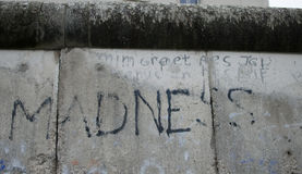Tekst op Berlin Wall Royalty-vrije Stock Afbeelding