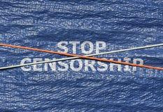 Tekst przerwy cenzura zdjęcia stock