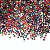 Tekst rama z obfitością kolorowe gwiazdy scatter zdjęcie royalty free