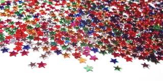 Tekst rama z rozsypiskiem kolorowe gwiazdy scatter zdjęcia royalty free