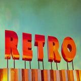 Tekst Retro podpisuje wewnątrz grunge styl Obraz Royalty Free