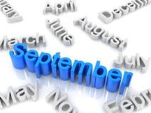 Tekst September Stock Fotografie