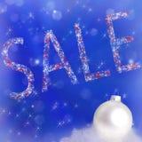 Tekst sprzedaż na nowego roku tle Zdjęcie Stock