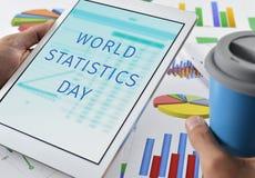Tekst statystyk światowy dzień w pastylce Obraz Stock