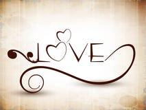Tekst stylizowana Miłość. ilustracja wektor