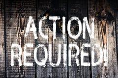 Tekst szyldowa pokazuje akcja Wymagająca Konceptualnej fotografii Znacząco akt Potrzebował Bezpośredniego Szybkiego Znacząco zada fotografia stock
