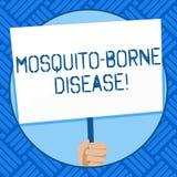 Tekst szyldowa pokazuje komar Znosząca choroba Konceptualni fotografii illnesses powodować darmozjady transmitujących komar r royalty ilustracja