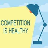Tekst szyldowa pokazuje rywalizacja Jest Zdrowa Konceptualna fotografii rywalizacja jest dobra w jakaś przedsięwzięciu prowadzi u royalty ilustracja