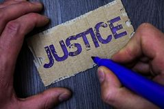 Tekst szyldowa pokazuje sprawiedliwość Konceptualna fotografii ilość być właśnie uczciwym lub bezstronnie administracją prawo reg zdjęcie stock