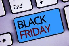 Tekst szyldowy pokazuje Black Friday Konceptualnych fotografii Specjalne sprzedaże po dziękczynienie zakupy pomijają odprawę Zdjęcie Stock