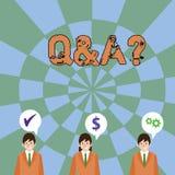 Tekst szyldowy pokazuje Q I pytanie Konceptualna fotografia i inny odpowiadamy one w którym pyta pytania demonstrujący ilustracji