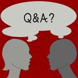 Tekst szyldowy pokazuje Q I pytanie Konceptualna fotografia i inny odpowiadamy one w którym pyta pytania demonstrujący ilustracja wektor