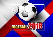 2018 tekst 001 van de Voetbalvoetbal Royalty-vrije Stock Foto