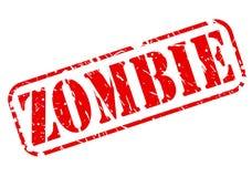 Tekst van de zombie de rode zegel Royalty-vrije Stock Fotografie