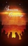 Tekst van geboorte van Christus de volledige grunge royalty-vrije illustratie