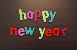 Tekst van Gelukkig Nieuwjaar De viering van de nieuwjaar` s vooravond royalty-vrije stock foto