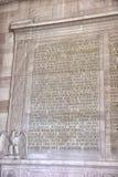 Tekst van het Gettysburg-Adres in Lincoln Memorial in Washington, gelijkstroom royalty-vrije stock afbeelding