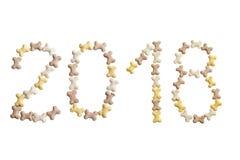 Tekst van nummer 2018 Symbool van nieuw jaar 2018 Royalty-vrije Stock Afbeelding