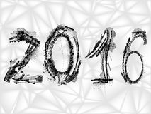 Tekst van 2016, vector Royalty-vrije Stock Foto's
