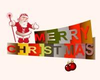 Tekst vrolijke Kerstmis Stock Afbeelding