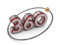 360 tekst w 3D Zdjęcia Stock