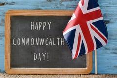 Tekst wspólnoty narodów szczęśliwy dzień Obrazy Royalty Free