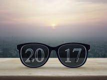 2017 tekst z oczu szkłami Zdjęcie Royalty Free