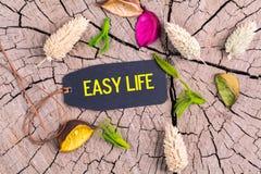 Teksta łatwy życie w etykietce obrazy stock