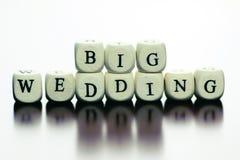 Teksta ślubny sześcian Fotografia Royalty Free