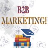 Teksta B2B szyldowy pokazuje marketing Konceptualny fotografia marketing produkty biznesy lub inny organizacji skalowanie royalty ilustracja