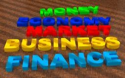 Teksta biznesowy finansowy rynek ilustracja wektor