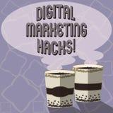 Teksta Cyfrowego marketingu szyldowi pokazuje kilofy Konceptualna fotografia Używać umiejętności lub system sieka wytwarzać prowa ilustracja wektor