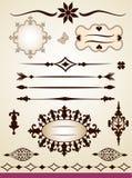 Teksta dividers, ramy, granica i dekoracje, Zdjęcie Stock