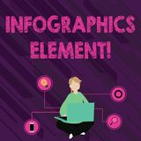 Teksta Infographics szyldowy pokazuje element Konceptualnej fotografii wizualny wizerunek używać reprezentować informacji lub  ilustracja wektor