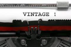 Teksta rocznik pisać starym maszyna do pisania Fotografia Royalty Free