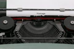 Teksta rocznik pisać z starym maszyna do pisania Zdjęcie Stock