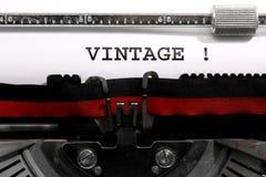Teksta rocznik pisać z starym maszyna do pisania Obraz Royalty Free