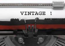 Teksta rocznik pisać z starym maszyna do pisania Fotografia Stock
