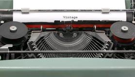 Teksta rocznik pisać z starym maszyna do pisania Zdjęcia Stock