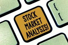 Teksta rynek papierów wartościowych szyldowa pokazuje analiza Konceptualna fotografia Umożliwia inwestorów znać warty inwestować  obraz stock