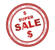 teksta sprzedaży znaczka super tekst Zdjęcia Royalty Free