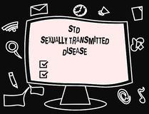 Teksta Std szyldowa pokazuje choroba przenoszona drogą płciową Konceptualna fotografii infekcja rozprzestrzeniająca plciowym stos ilustracji