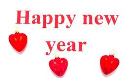 Teksta Szczęśliwy nowy rok Zdjęcie Royalty Free