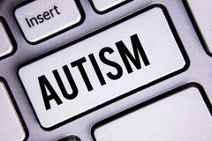 Teksta szyldowy pokazuje autyzm E obraz stock