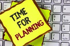 Teksta szyldowy pokazuje czas Dla Planować Konceptualny fotografia początek projekt Robi decyzjom Organizatorskiemu rozkładowi pi Zdjęcia Stock
