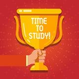 Teksta szyldowy pokazuje czas Studiować Konceptualny fotografia egzaminów potrzeby naprzód koncentrat w studiach uczy się lekcję ilustracja wektor