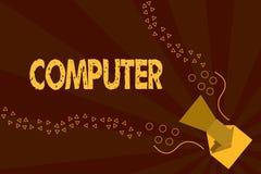 Teksta szyldowy pokazuje komputer Konceptualny fotografii urządzenie elektroniczne sposobny otrzymywać dane spełniania operacje ilustracja wektor