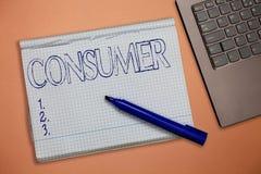 Teksta szyldowy pokazuje konsument Konceptualny fotografii demonstrować co nabywa towary i usługi dla demonstratingal użycia obraz royalty free